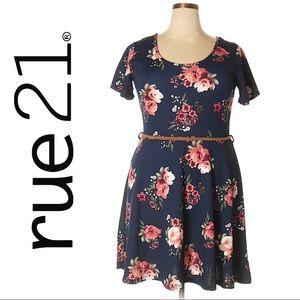 Rue 21 Blue Floral Dress, Size 2x